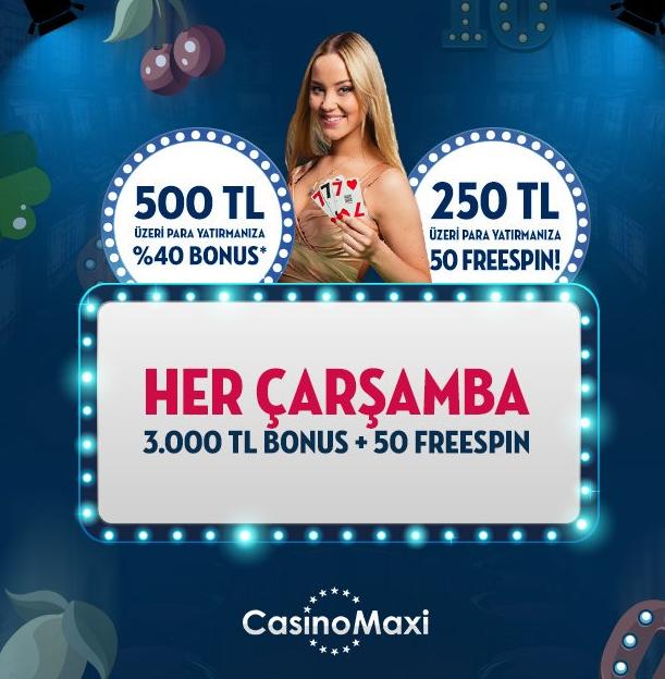 CasinoMaxi 3000 TL bonus
